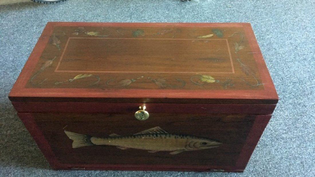 """Handpainted Mahogany """"Machinist's"""" Type Box"""