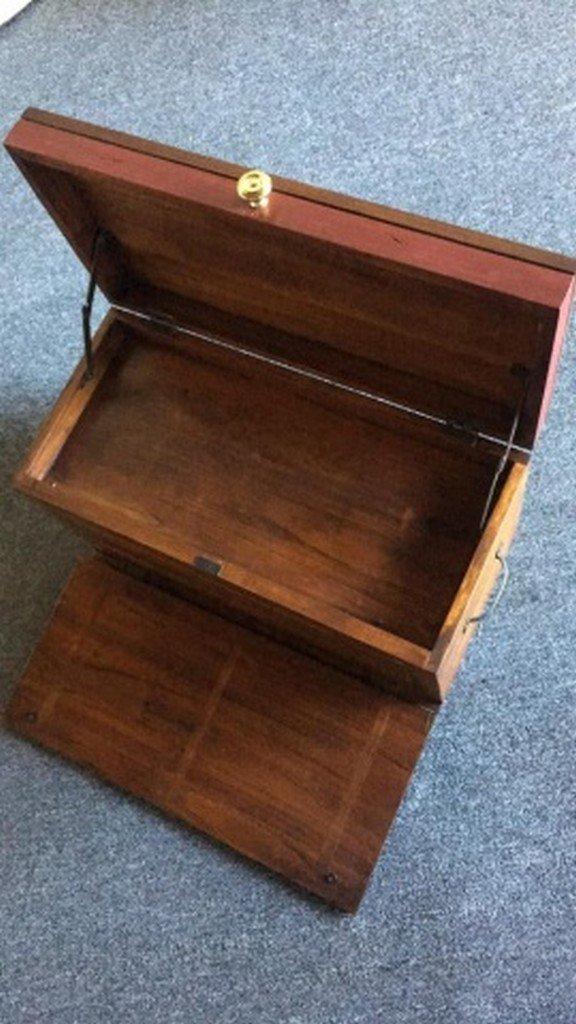 """Handpainted Mahogany """"Machinist's"""" Type Box - 2"""