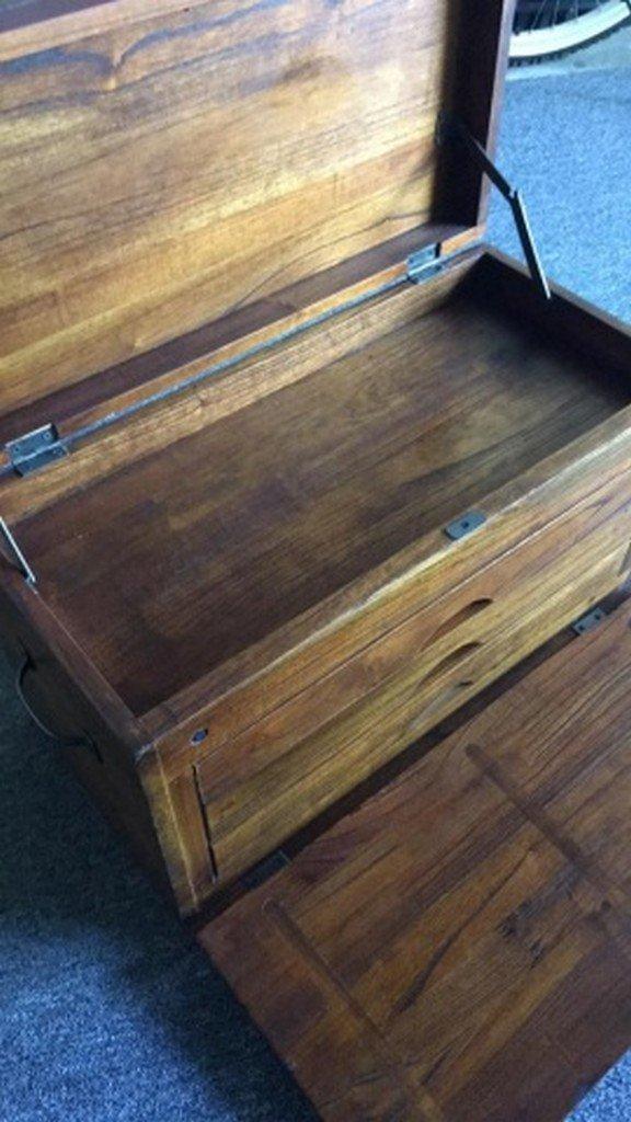 """Handpainted Mahogany """"Machinist's"""" Type Box - 4"""