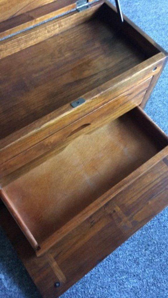 """Handpainted Mahogany """"Machinist's"""" Type Box - 7"""