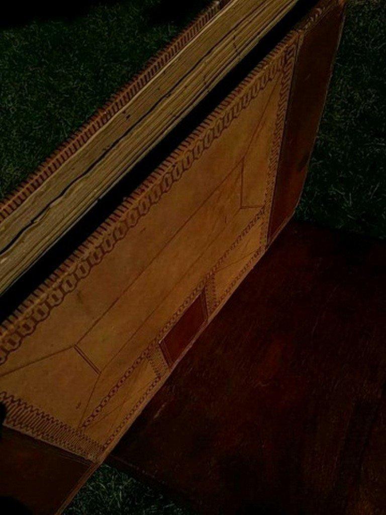 Antique Leather Ledger Book - 5