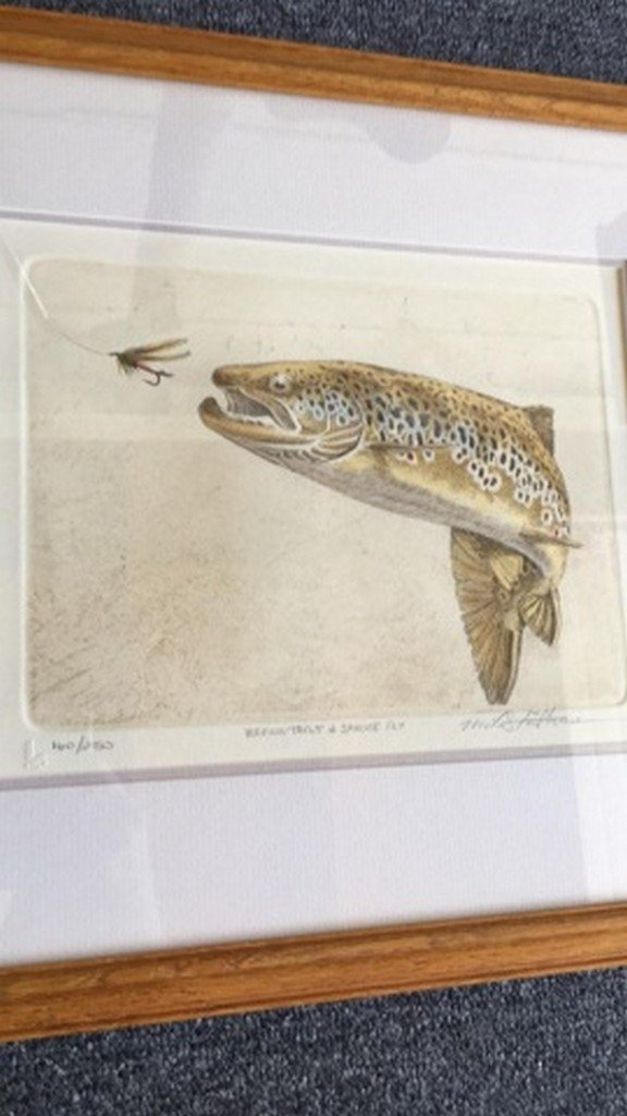 """Mike Stidham Lithograph Print """"B. Trout & Sp. Fly"""""""