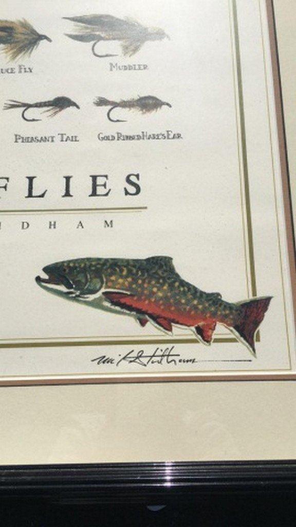 "Mike Stidham Original Signed Print ""Trout Flies"" - 3"