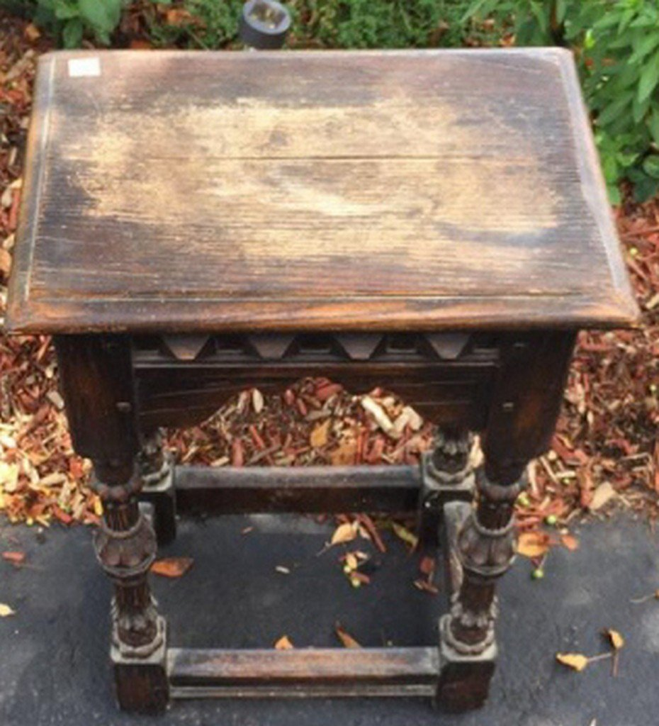 Carved Oak Stand