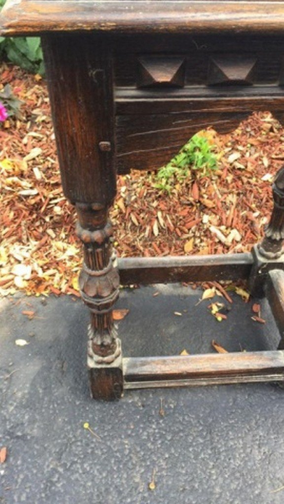 Carved Oak Stand - 2
