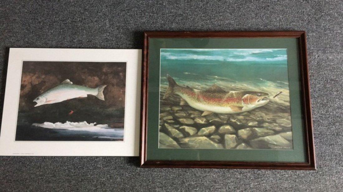 Lot of 2 Fish prints
