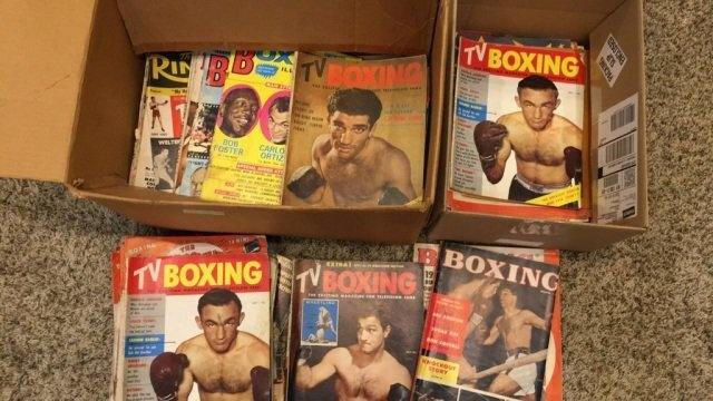 2 Boxes of a couple of Hundred Boxing Magazines