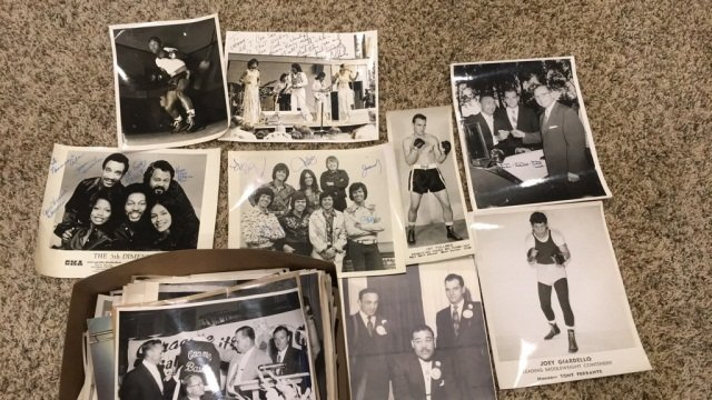 Box of boxing photographs over 150 with some signed