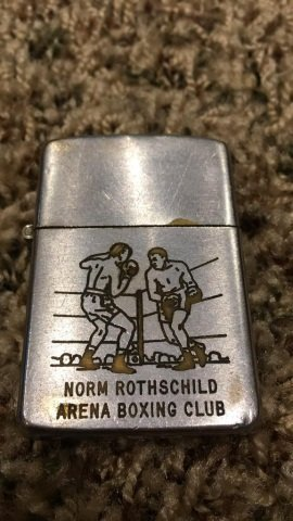 Lighter, pin, ash tray Lot - Boxing Related - 4