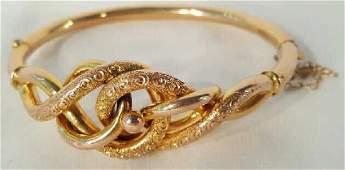 Antique 9 K Victorian Bangle Bracelet