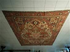 Antique Serapi Oversized Oriental Carpet