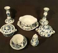 Blue Danube Porcelain Partial Dinner Service