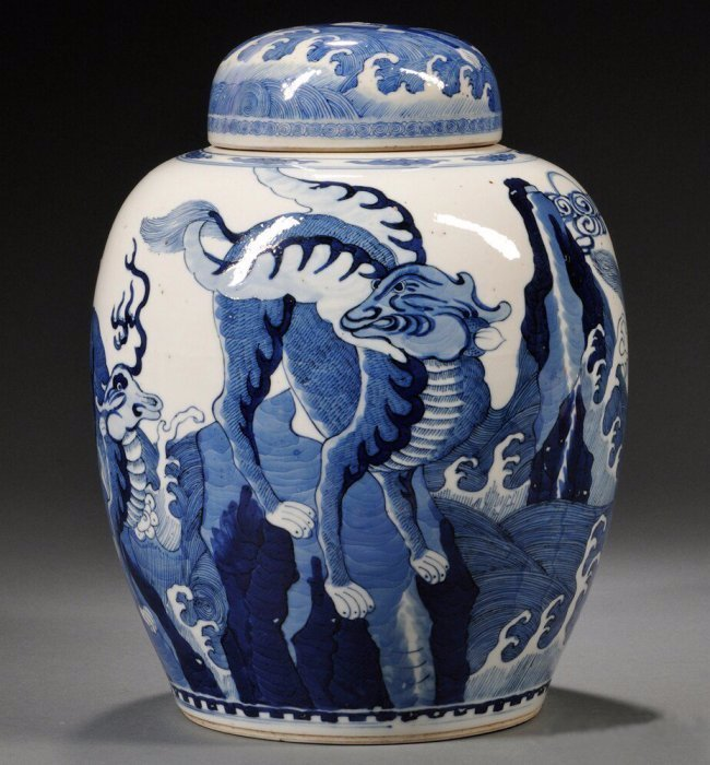 A Chinese Blue and White Covered Jar