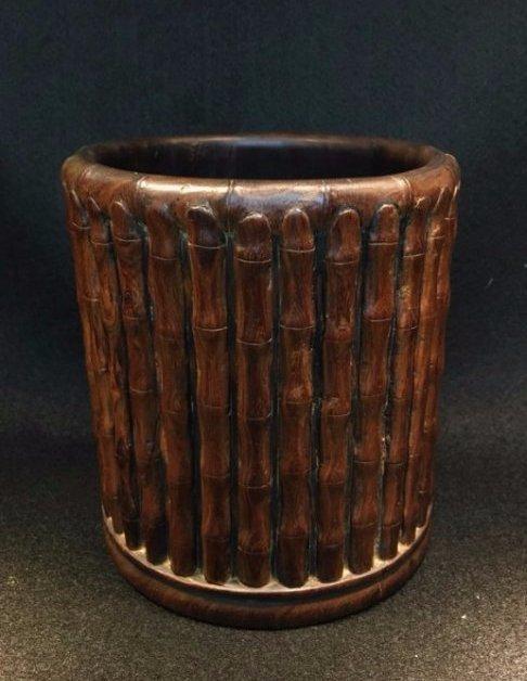 Huanghuali brush pot.