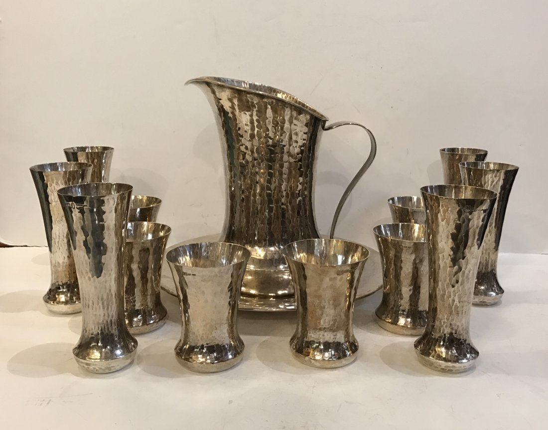 14 Pc Italian Sterling Silver Serving Set