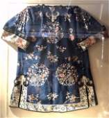 A Old Chinese Embroidery Robe In Frame