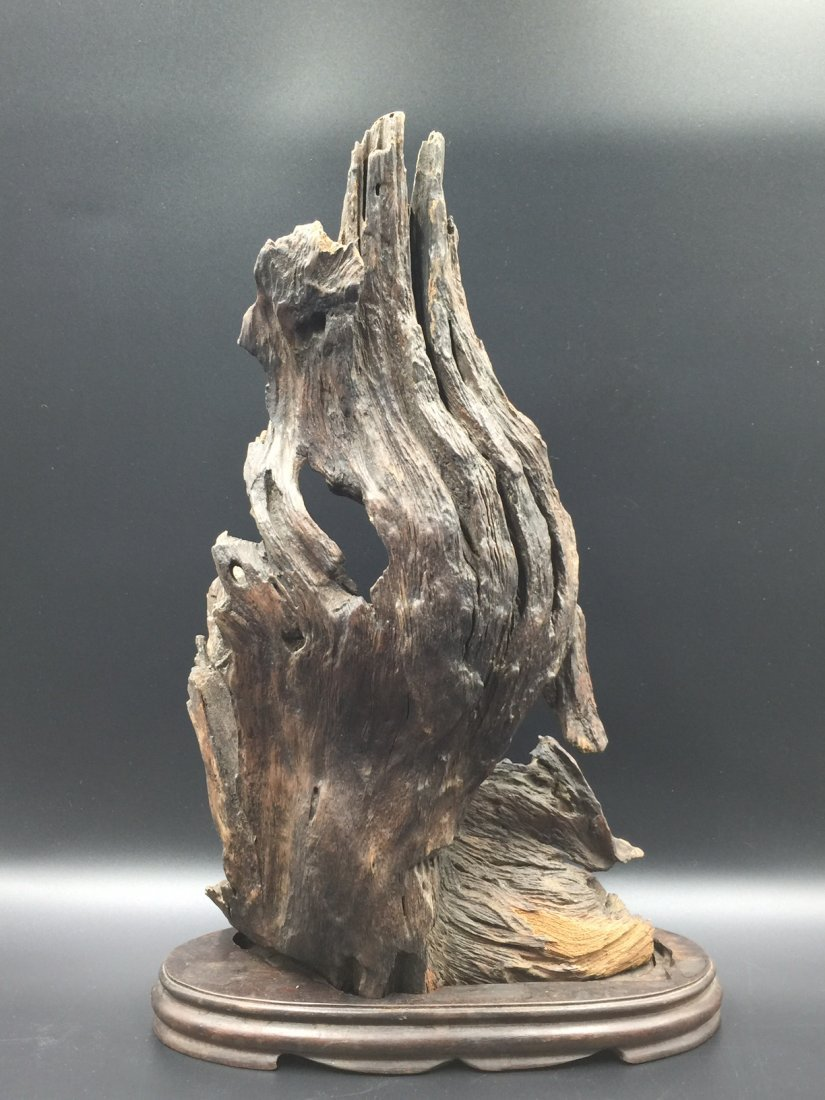 A Old Natural ChenXiang Wood With Base - 2