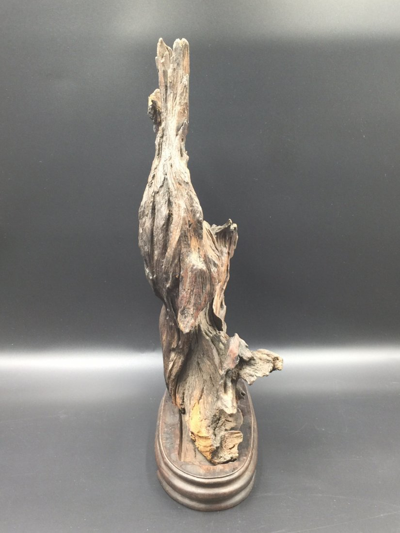 A Old Natural ChenXiang Wood With Base - 4