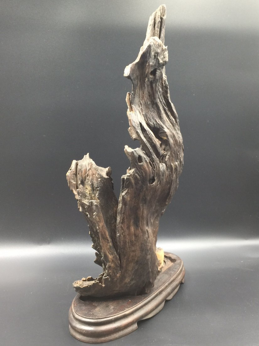 A Old Natural ChenXiang Wood With Base - 5