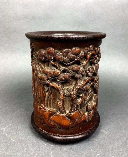 Bamboo Brush Pot - 3