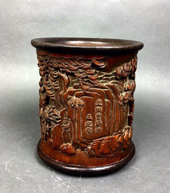 Bamboo Brush Pot - 4