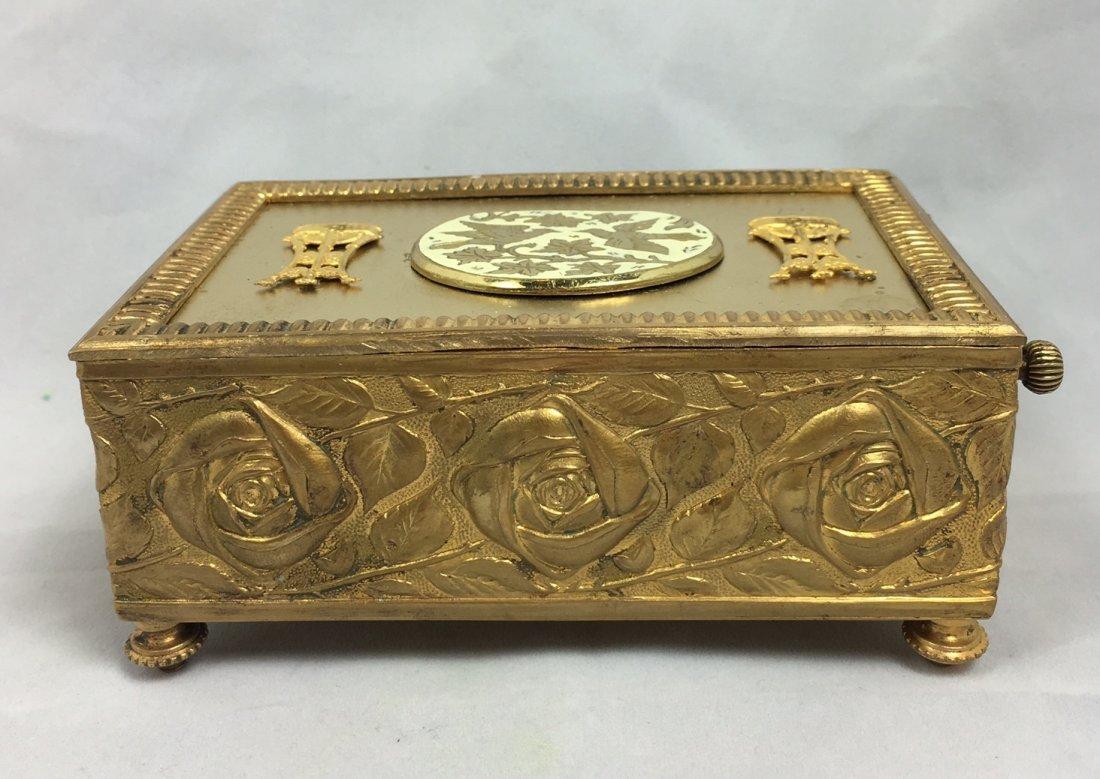 Gold Gilt Music Box with Singing Bird - 4