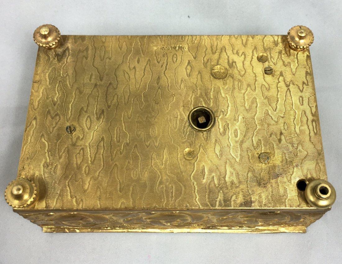 Gold Gilt Music Box with Singing Bird - 5