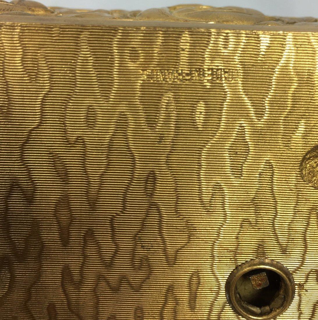Gold Gilt Music Box with Singing Bird - 6