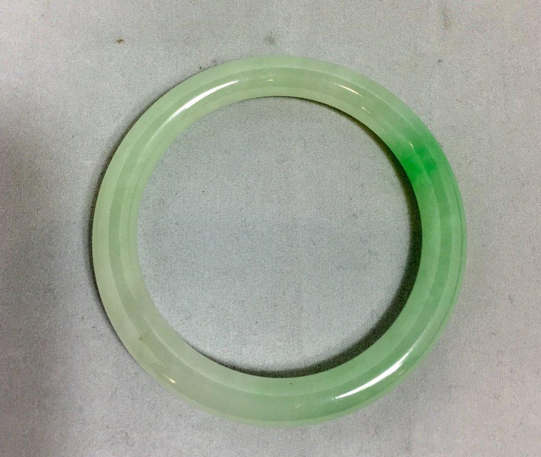 Natural Untreated Jadeite Jade Bangle - 4