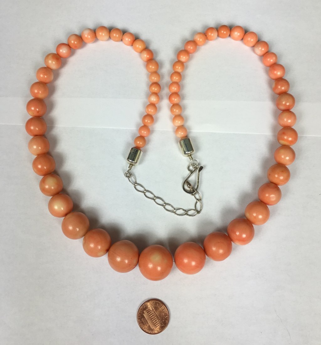 Large Coral Necklace - 2