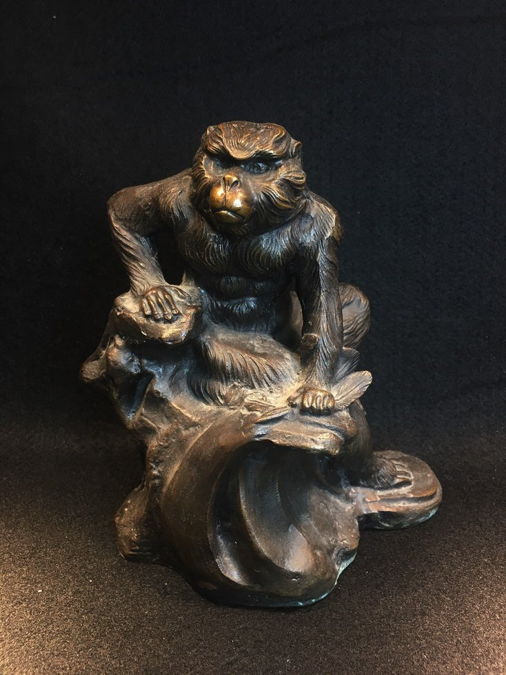 Three bronze carvings. - 7