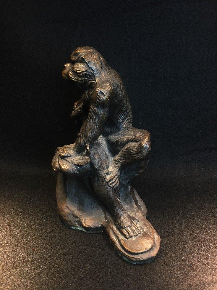 Three bronze carvings. - 8