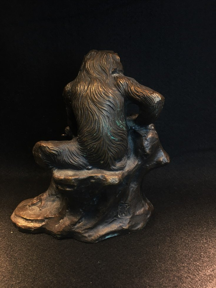 Three bronze carvings. - 9