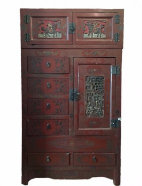 Chinese Lacquered Furniture for Sale in Online Auctions