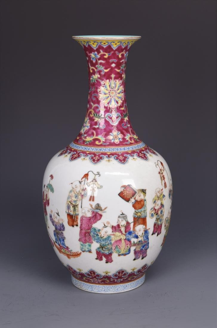 Large Porcelain Pear  Shaped Vase with mark