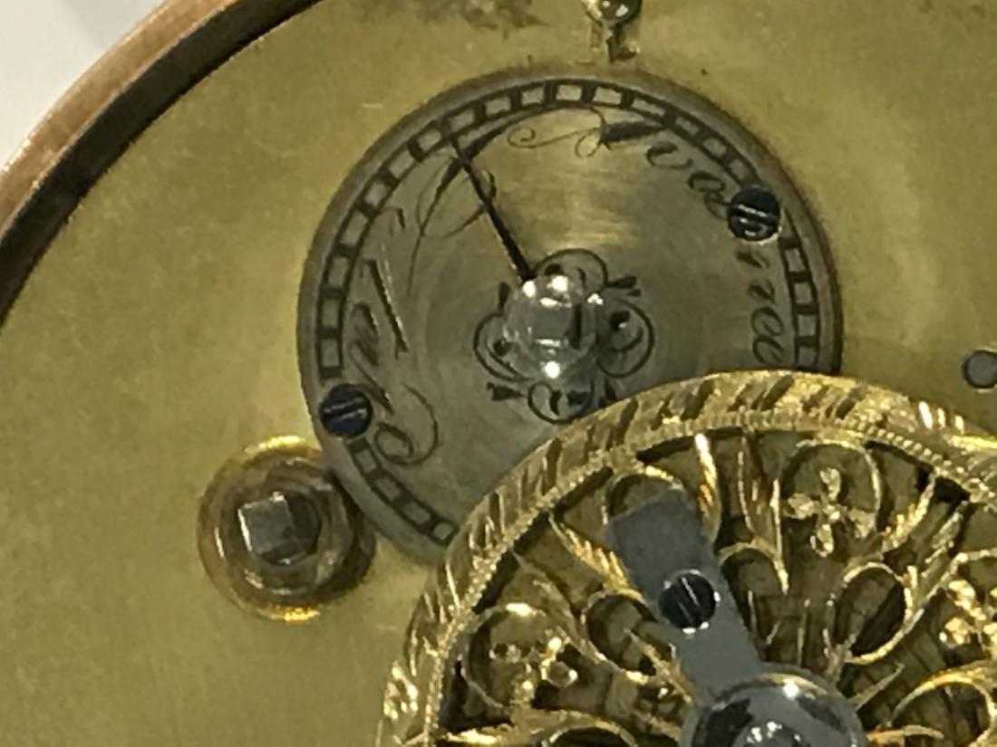 18KT Gold Open Face Pocket Watch - 6