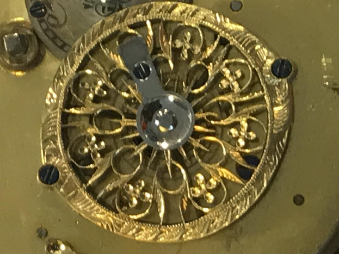 18KT Gold Open Face Pocket Watch - 7