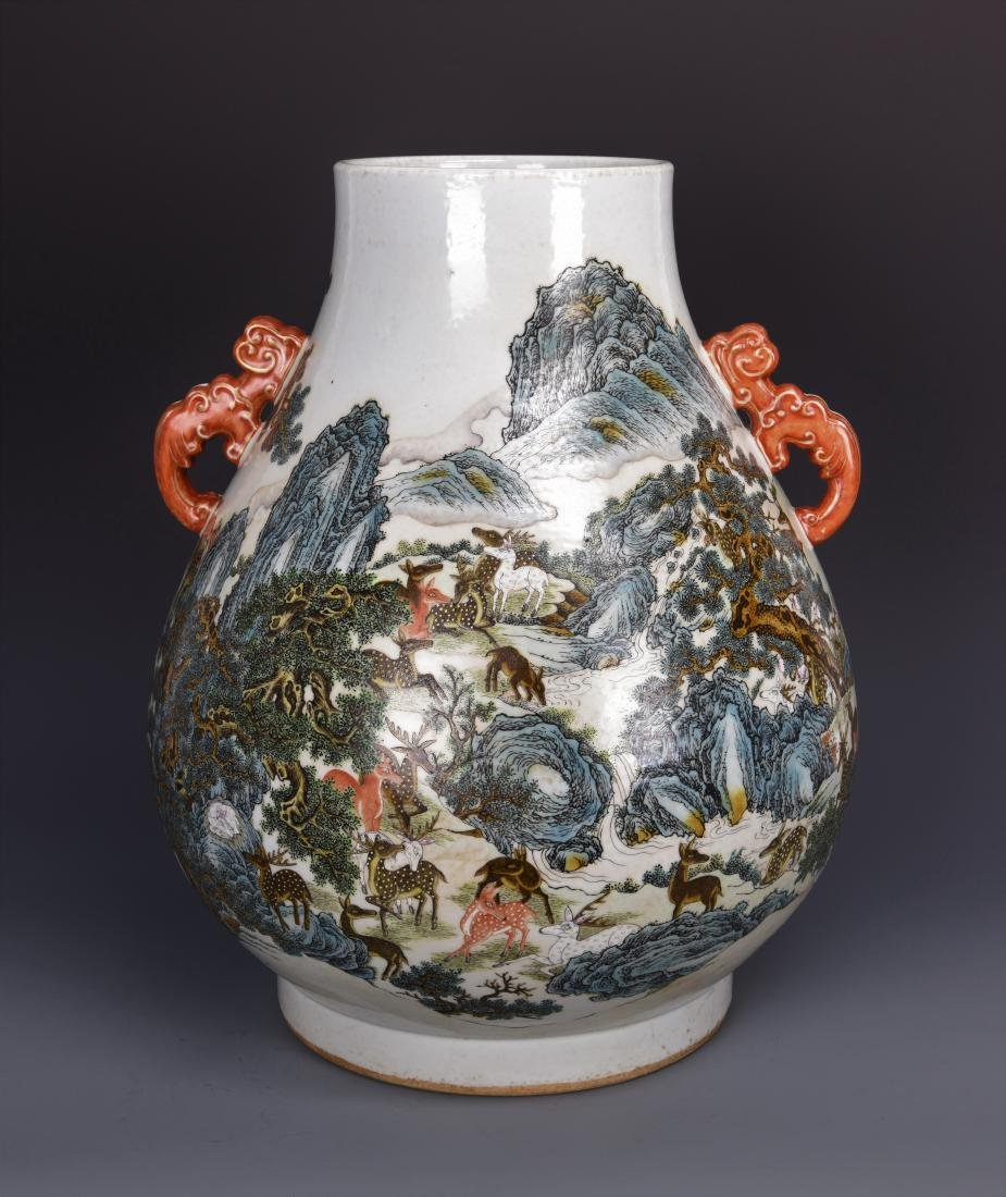Porcelain pear  Shaped Vase with mark