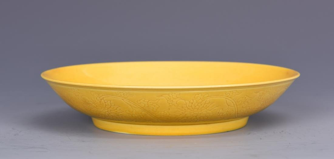 Yellow Glazed Dish with Mark