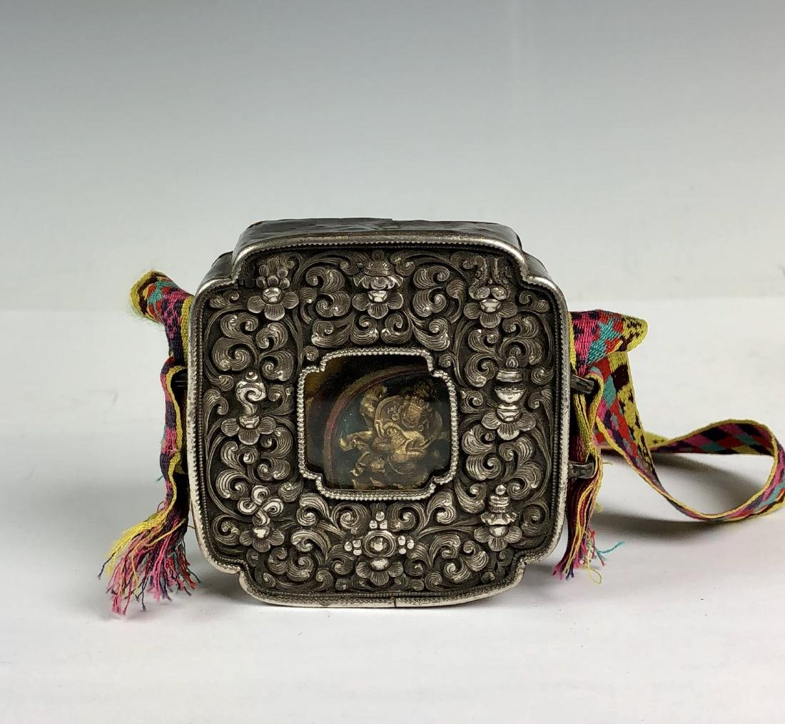 Tibetan Silver Prayer Box
