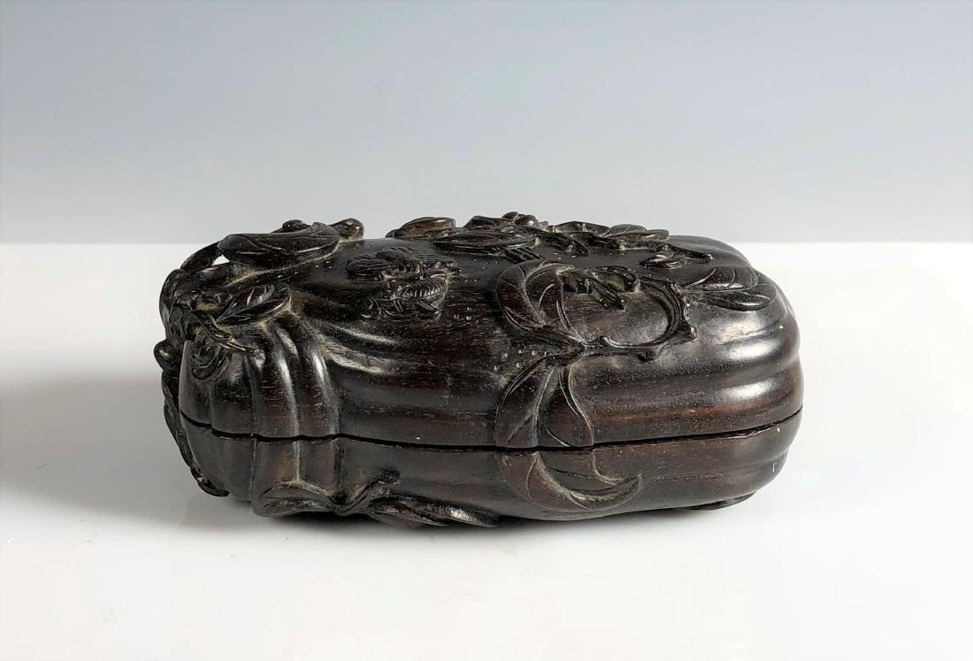 Carved Zitan Wood Box