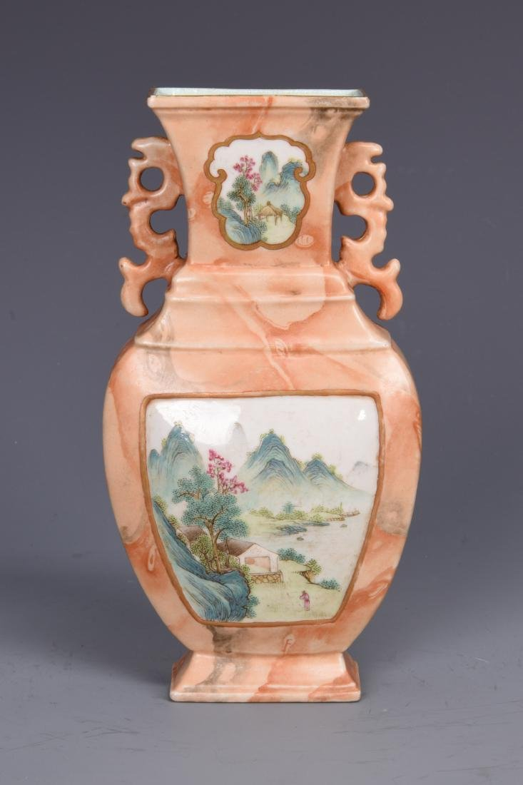 Wall Hanging Porcelain Vase with Mark