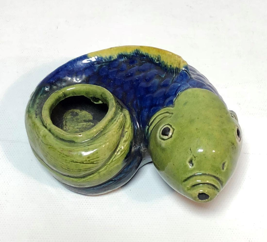 Porcelain Water Dropper Figure of Fish