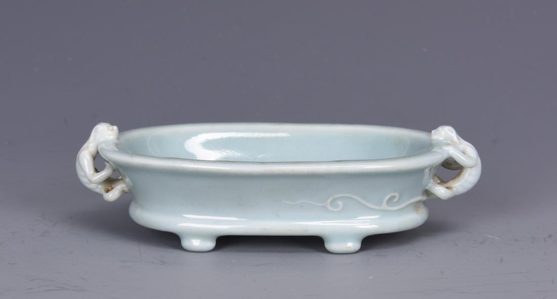 Porcelain Brush Washer with Mark
