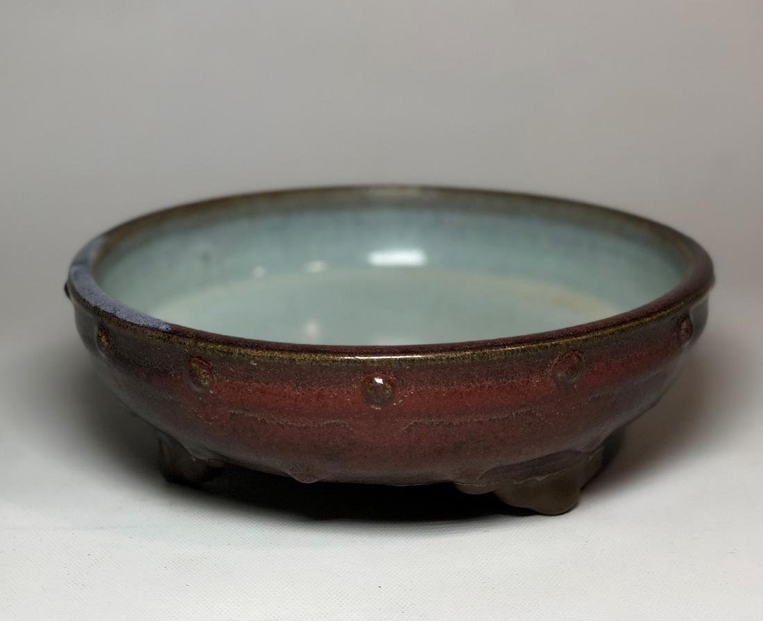 Glazed Porcelain Brush Washer Footed Bottom