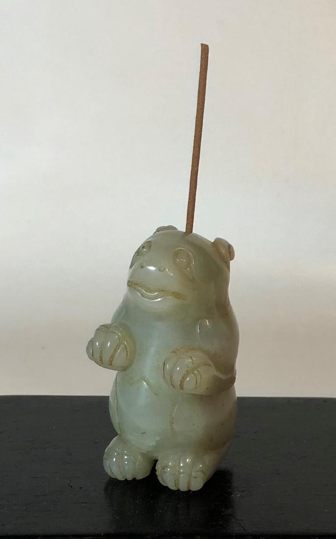 Carved Jade Incense Holder