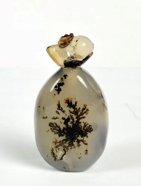 Agate Snuff Bottle With Top