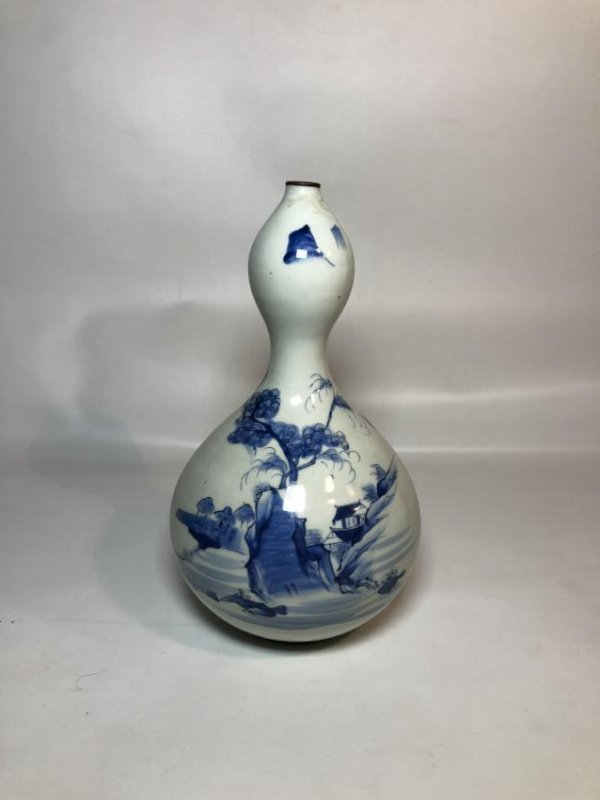 Blue and White Double Gourd Porcelain Vase
