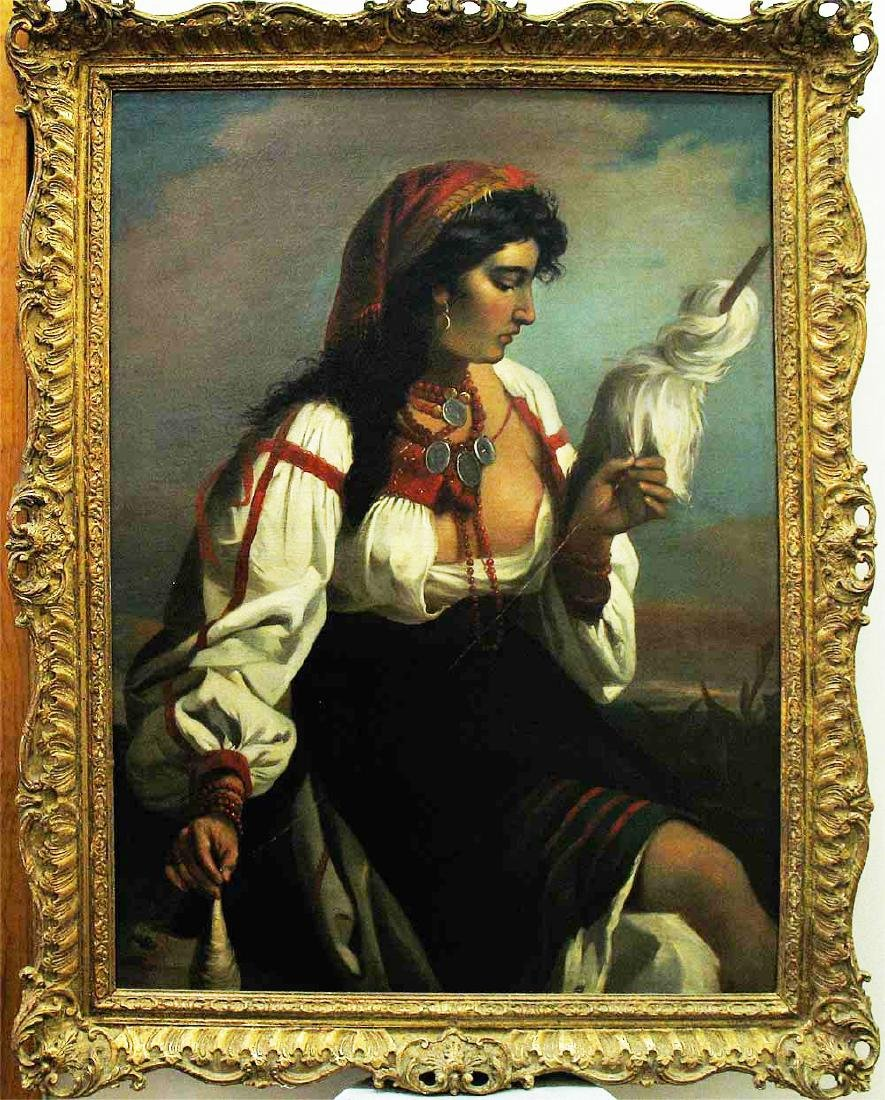 Oil on Canvas of Gipsy Girl