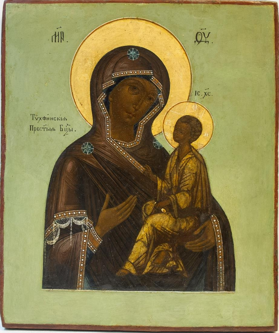 Russian Icon: TIKHVINSKAYA MOTHER OF GOD